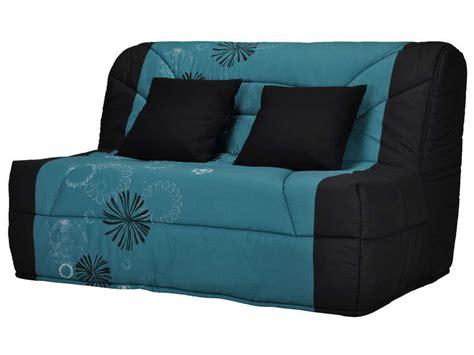 conforama canapé bz housse pour bz prima 140 cm prima maori coloris bleu