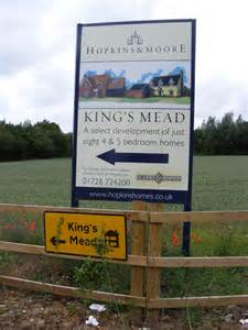 king s mead new homes advertisement sign 169 adrian cable