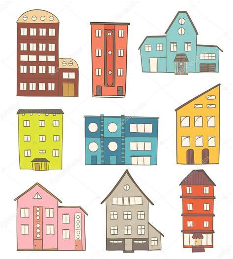 set houses drawings stock photo photo vector illustration conjunto de casas de dibujos animados vector de dibujo de