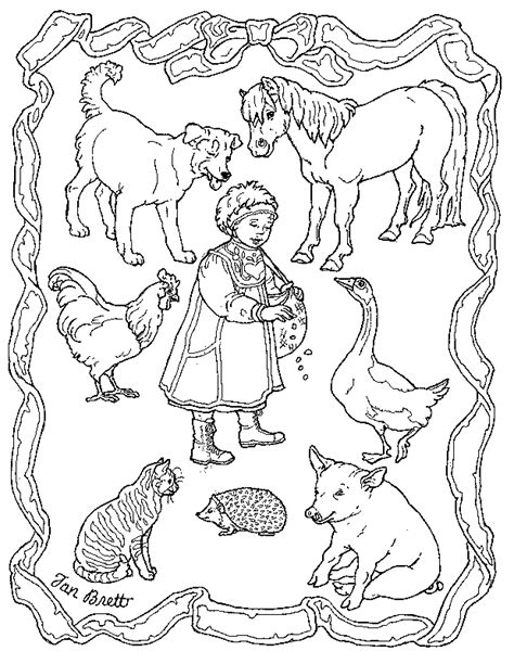 Coloring Pages For The Hat By Jan Brett | the hat coloring page