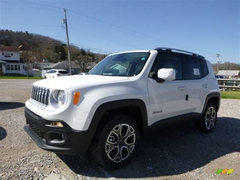 jeep renegade white 2016 alpine white jeep renegade limited 4x4 112229273