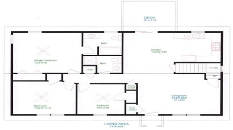 unique ranch house plans small one story house plans best free home design