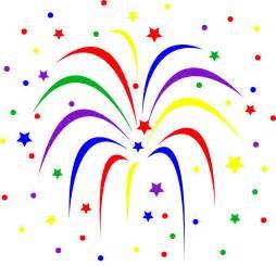Colorful fireworks burst free clip art