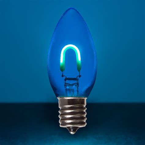 net light replacement lights c9 blue glass flexfilament tm led vintage light bulb transparent