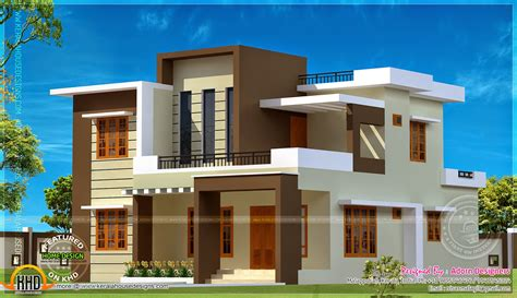 flat roof house plans 204 square meter flat roof house kerala home design and