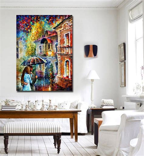 rainy kiss modern living room wall painting large printed