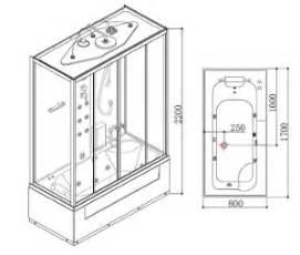 misure box doccia standard cabina doccia e vasca idromassaggio con bagno turco 170x80