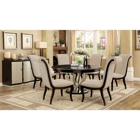 7 piece round dining room set ornette 7 piece round table dining room set by furniture