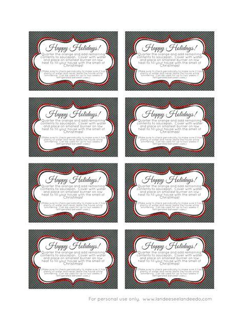 printable christmas potpourri tags neighbor gift idea landeelu com