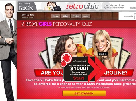 2 Broke Girls Sweepstakes - 2 broke girls personality quiz sweepstakes