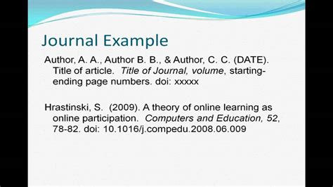 how to reference book apa 6 apa 6th edition part 2
