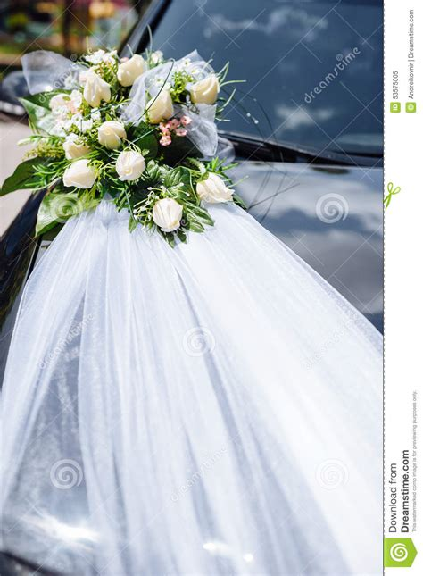 wedding car decorations with flower bouquet pictures wedding car decor flowers bouquet car decoration stock image image 53575005