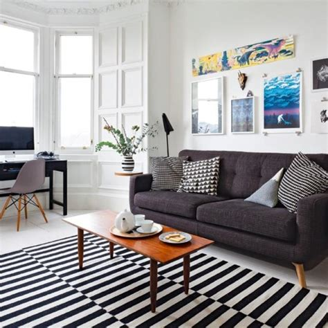Monochromatic Room by 20 Cool Living Rooms With Statement Artwork Rilane