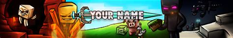 Free Minecraft Youtube Banner Template 1 Minecraftrocket Minecraft Banner Template