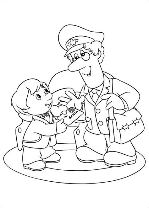 free coloring pages of mailman
