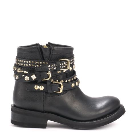 ash tatum gold studded ankle boots