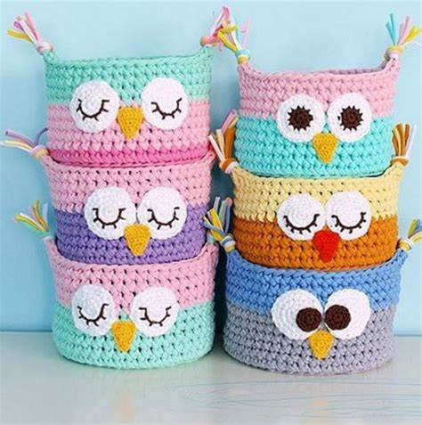 t shirt yarn dishcloth pattern crochet owl basket from tshirt yarn crochet goodness