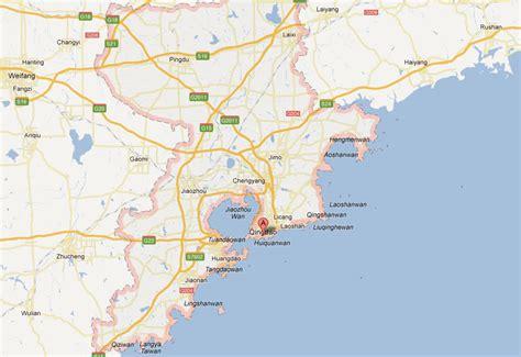 map of qingdao qingdao map and qingdao satellite image