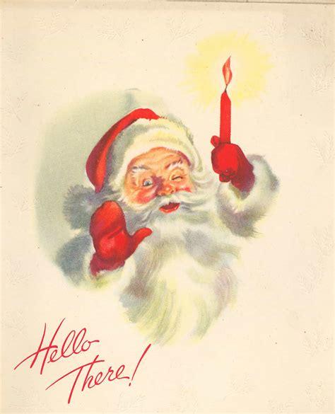 vintage santa claus quot hello there quot santa claus vintage clip