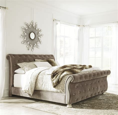 north shore bed cassimore north shore pearl silver king upholstered bed