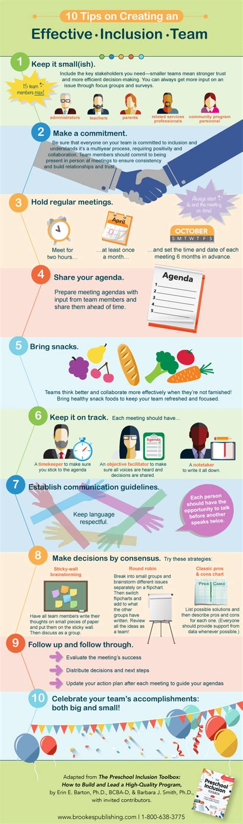 education tips infographic 10 tips on creating an effective inclusion
