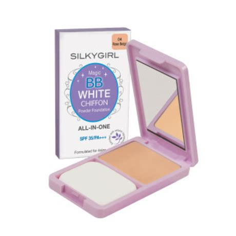 Silkygirl Magic Bb Powder Foundation silkygirl magic bb white chiffon powder foundation 04