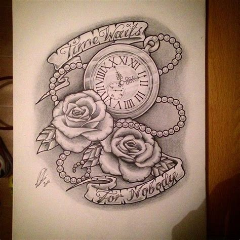 rose and scroll tattoo designs quot i wish you were here quot clock set to 8 30 i n k p i e r
