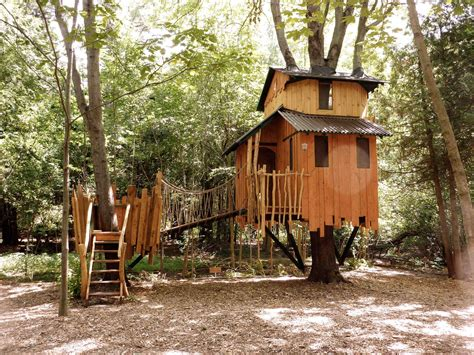 tree house backyard two story fort treehouse stauffer woodworking
