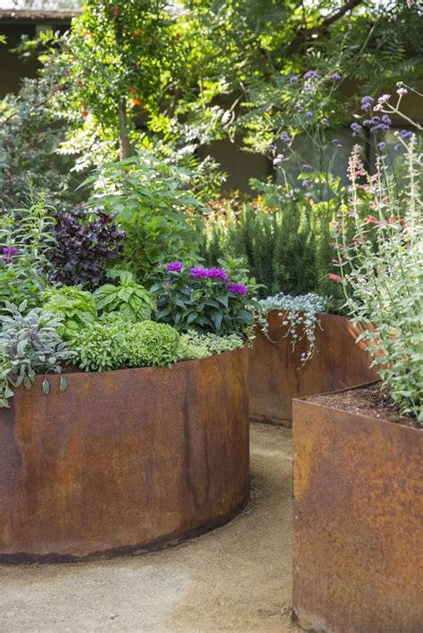 corten steel planter planters corten steel planters and on