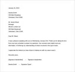 Thank You Letter For School Sle Sle Thank You Letter After Phone 12 Free Documents In Word Pdf