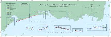 interactive map morphological impacts of hurricane