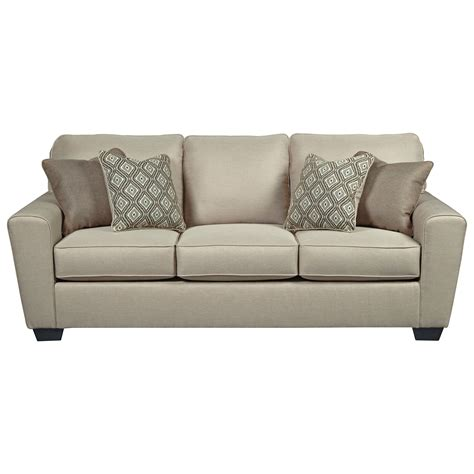 contemporary sleeper sofa queen benchcraft calicho 9120339 contemporary queen sofa sleeper