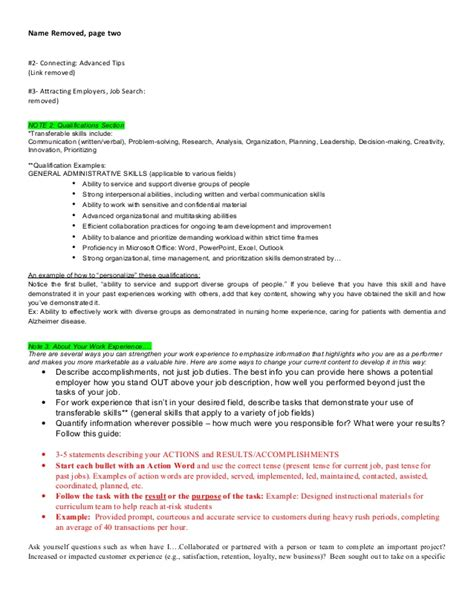 Resume Organizational Skills Exles by Organizational Skills Resume
