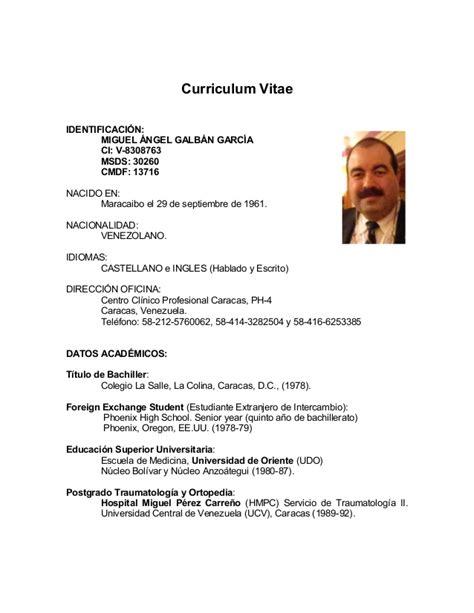 Modelo Cv En España Formatos Curriculum Vitae Word Commonpence Co