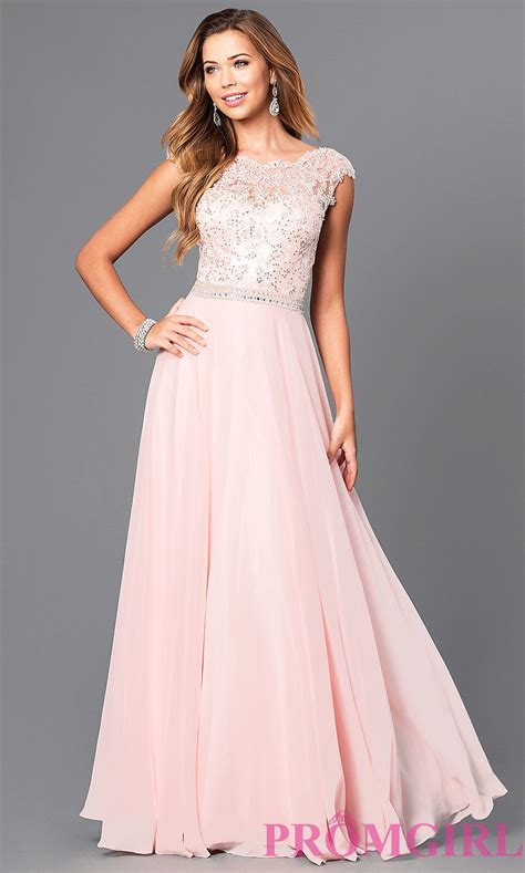 Dress Serly lace illusion pastel prom dress promgirl