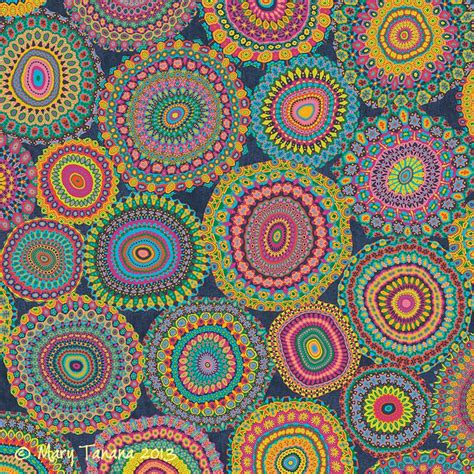 boho colors boho patchwork colors print mandalas