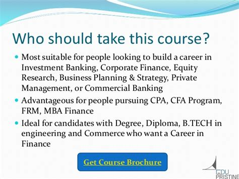 Career Options After Mba In Banking And Finance by Why Do Financial Modeling Course