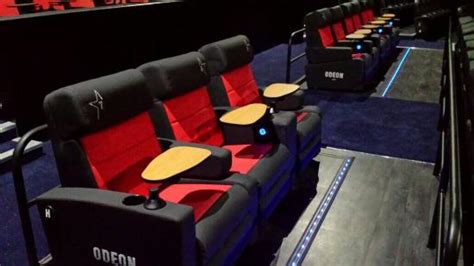 cinema with reclining seats fab new recliner seating picture of odeon cinema