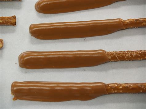 pretzel rods sweenor s chocolates chocolate caramel pretzel rods