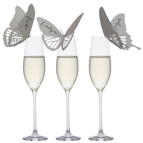 butterfly place cards for wine glasses template butterfly place cards wine glass flamingo