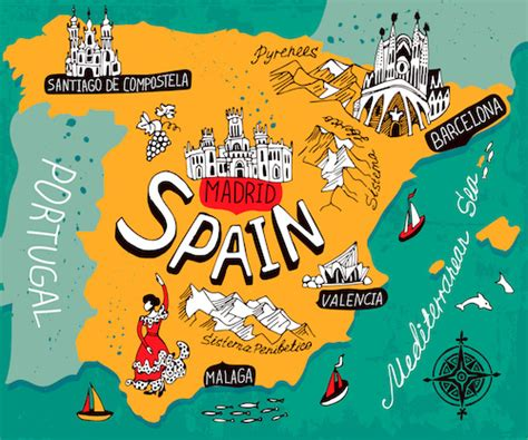 Charming Christmas Activities In Germany #3: Spain_map_ssk_383523706.jpg