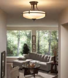 Living Room Ceiling Lights Living Room With Berkeley Semi Flush Ceiling Light Home Interiors