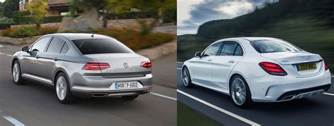 volkswagen cc vs passat 2015 volkswagen passat vs mercedes c class side by side