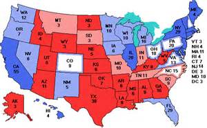 us map showing electoral votes electoralvote
