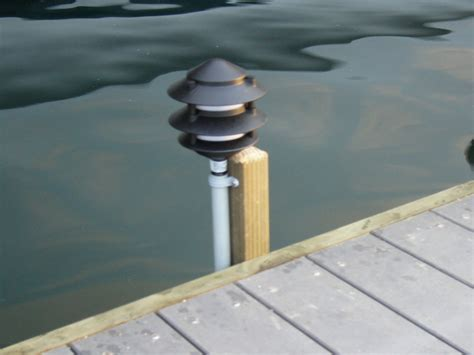 piling mounted dock lights vikings port swift slip docks