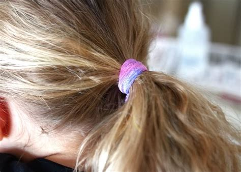 Rubber Fabric Hair Tie tie dyed elastic accessories a tutorial