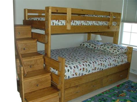 wooden bunk beds with stairs wooden bunk bed plans with stairs woodworking projects
