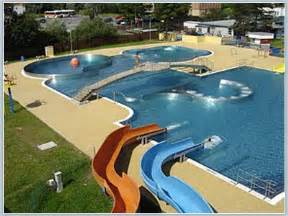 cool swimming pools cool outdoor swimming pool with water slides awesome