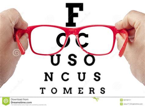 Testi Customer focus customer customers spectacles concept stock image