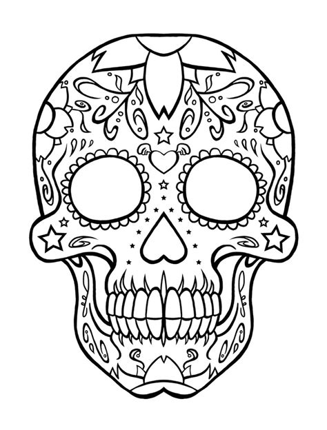 coloring pages skulls az coloring pages